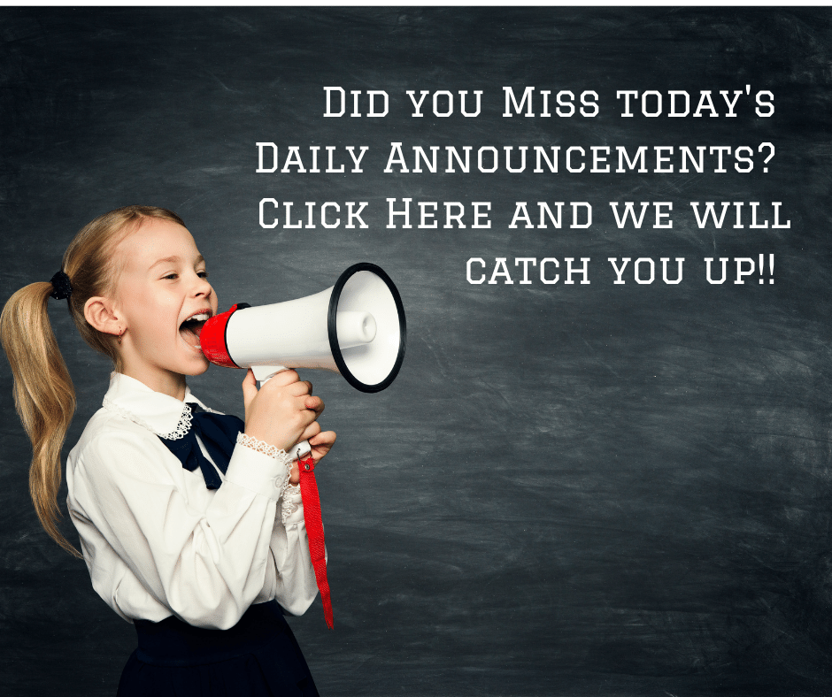 Daily Announcements Listed